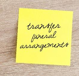 transferring a prearrangement